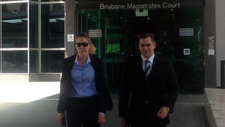 Sergeant Donna MacGregor leaves court.