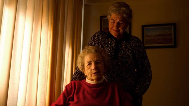 ''Just totally morally wrong'' … Patricia Trass, 74, with her mother Grace Croxford, 93.