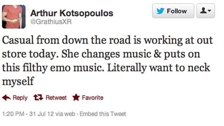 Another of the tweets Kotsopoulos posted yesterday.