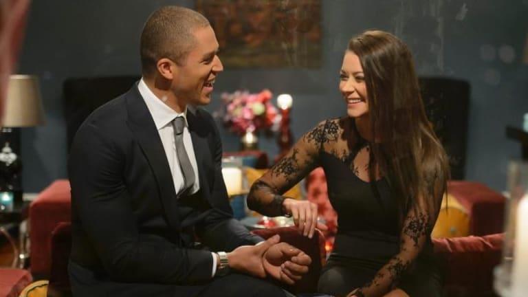 Blake and Lisa share a moment.