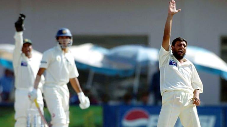 Saqlain Mushtaq during his playing days for Pakistan.