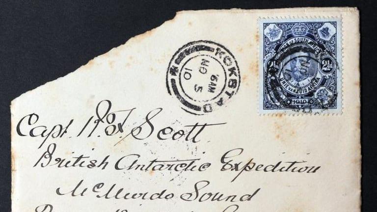 A letter sent to Captain Scott.