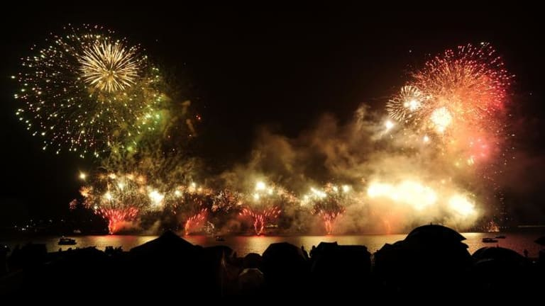 16 March 2012, news, story by Christopher Knaus, photo by STUART WALMSLEY. Skyfire 2012 on the shore of Lake Burley Griffin, Canberra.