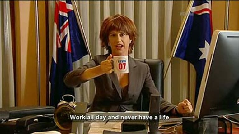 Amanda Bishop as Julia Gillard.