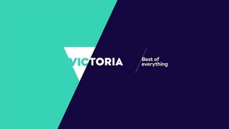New slant: The latest logo for Tourism Victoria.