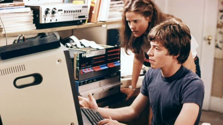 Information war is very different from cyber war. An image from classic 1983 hacking film <i>War Games</i>, starring Matthew Broderick and Ally Sheedy.