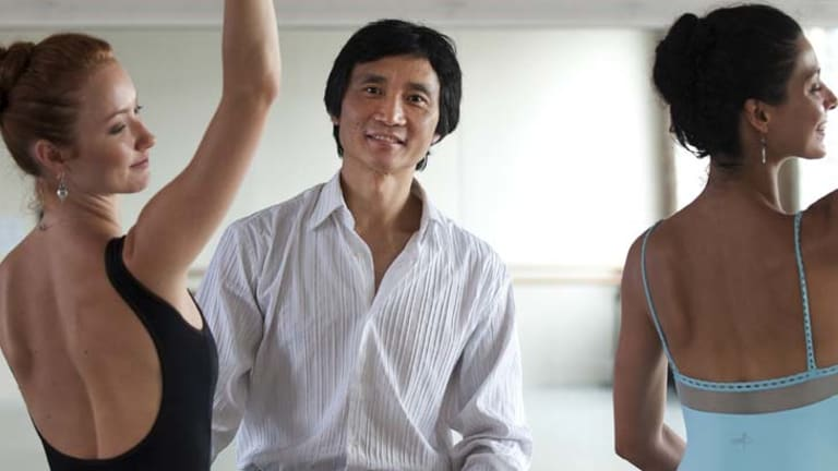 """It's very difficult in real life, in the financial world, to see that kind of passion"" ... Li Cunxin, pictured with dancers Kathleen Doody and Iona Marques, will be artistic director of the Queensland Ballet."