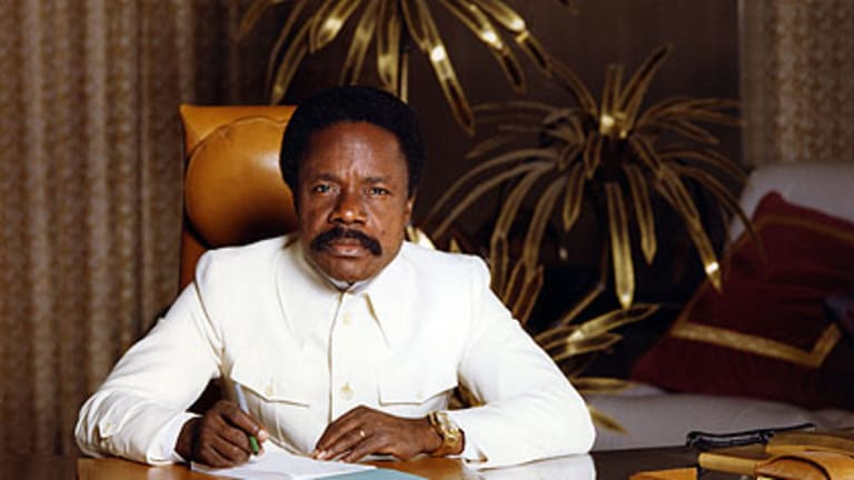 Omar Bongo ... greedy leader prospered with French assistance.