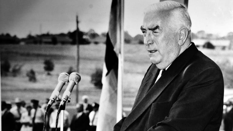 Robert Menzies greeting speech at the opening of the Royal Australian Mint.