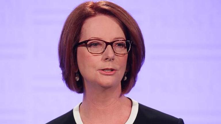 Called the election ... Prime Minister Julia Gillard.