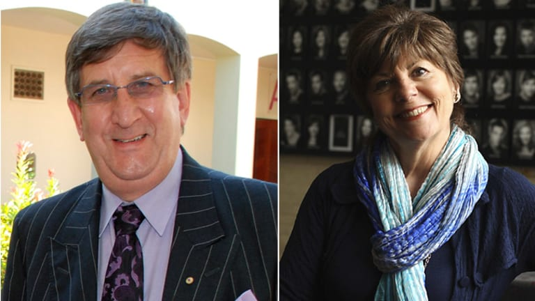 Criticism ... Chris Puplick (left) opposed the appointment of Lynne Williams (right) at NIDA.