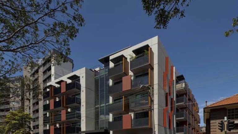 In contention ... the Common Ground apartment building at Camperdown.