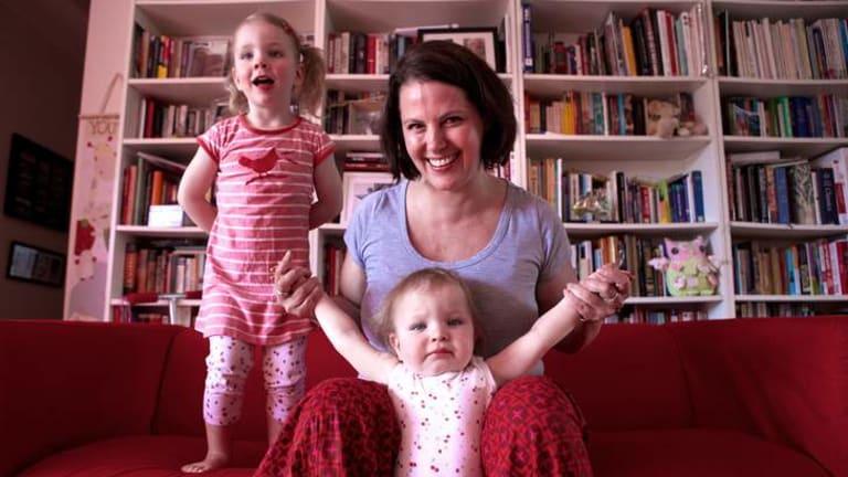Revolutionary: Margaret Ambrose with daughters Greta (left) and Rori.