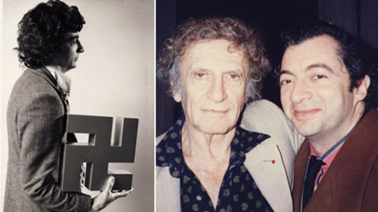 War stories... Phillipe Mora, left, in 1973 and with Marcel Marceau, centre, who worked alongside Mora's father in the French Resistance.