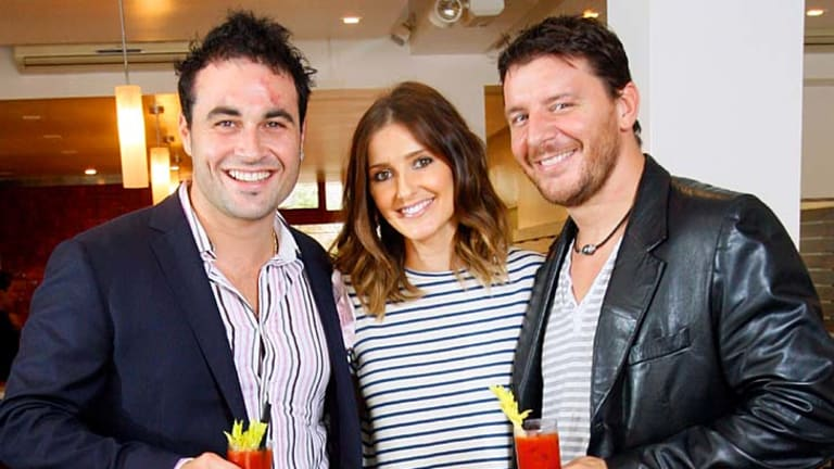 Miguel Maestre, left, with <i>Sun-Herald</i> journalist Kate Waterhouse and celebrity chef Manu Feidel.
