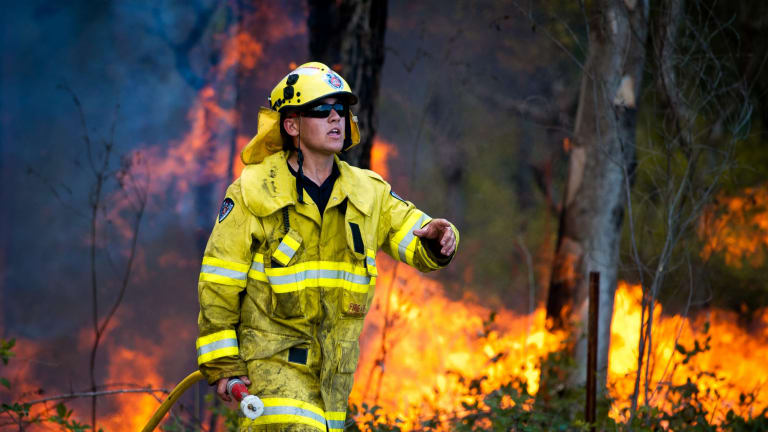 Fires rage at Abermain and Neath in the NSW Hunter region.