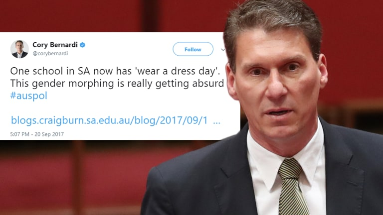 Senator Cory Bernardi's tweet.