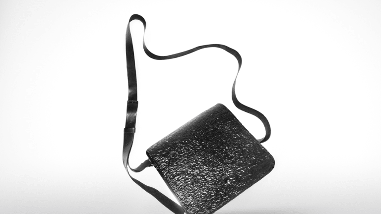 A stylish bag made from recycled waste? It's not a Christmas gag.