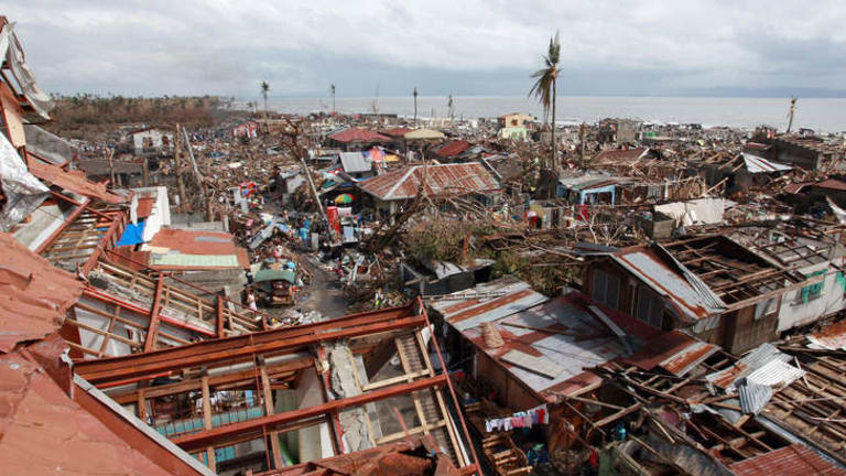 Disaster magnified ... typhoon Haiyan, which ripped through the Philippines this month, has been described as one of the most powerful typhoons ever to hit land.