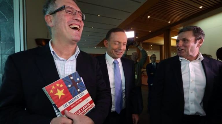 Prime Minister Tony Abbott launched The Mandarin Code by Steve Lewis and Chris Uhlmann last year.