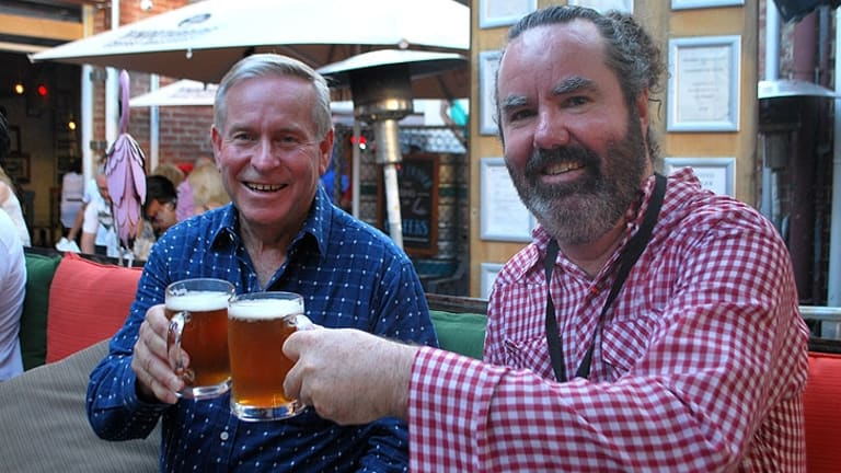 The Premier and Brendan Foster at Fringe.