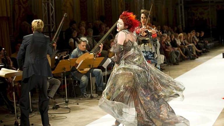 Fun but not frivolous ... opera makes a fashion statement in an earlier performance.