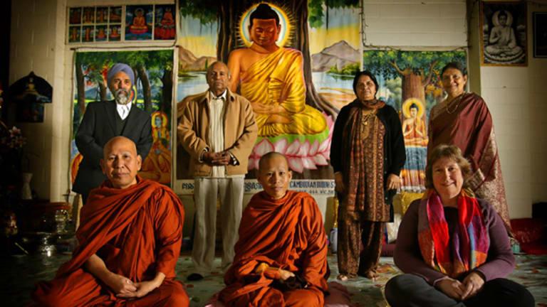 Ol Sam, Kriv Sophal, Helen Heath, Gurdarshin Singh, Varen Varendram, Pushpa Wood and Shanti Verendram.