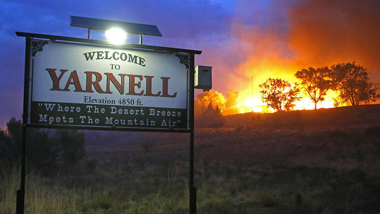 Flames swept across the small town of Yarnell in Arizona.