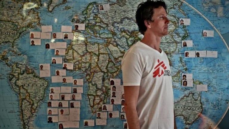 Catastrophe: MSF's Brett Adamson says the international response is too slow.