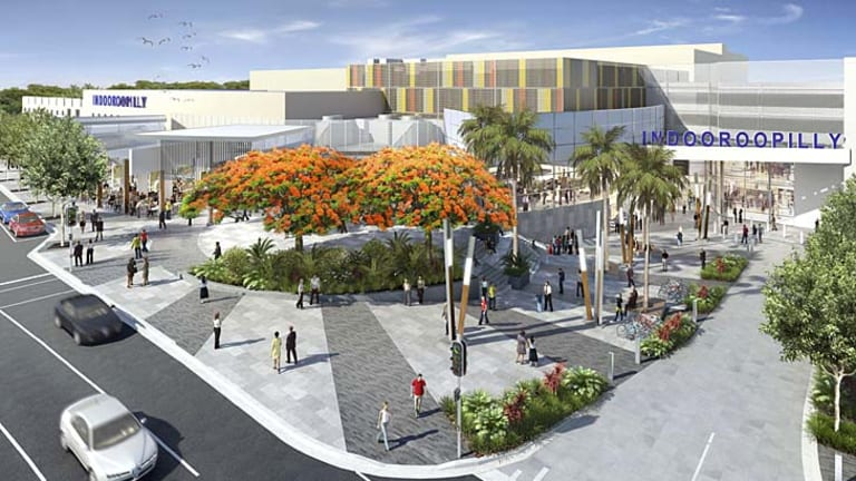 An artist's impression of the redeveloped Indooroopilly Shopping Centre.
