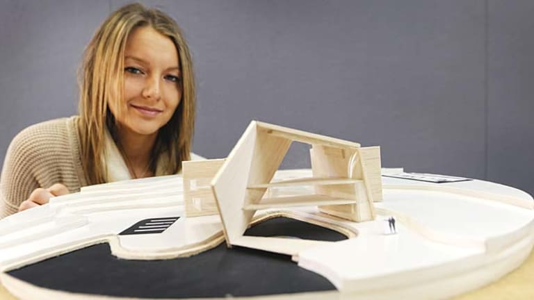 QUT architect student Ivy Verlaat's design will be on display at the 'Bouncing Back Exhibition'.