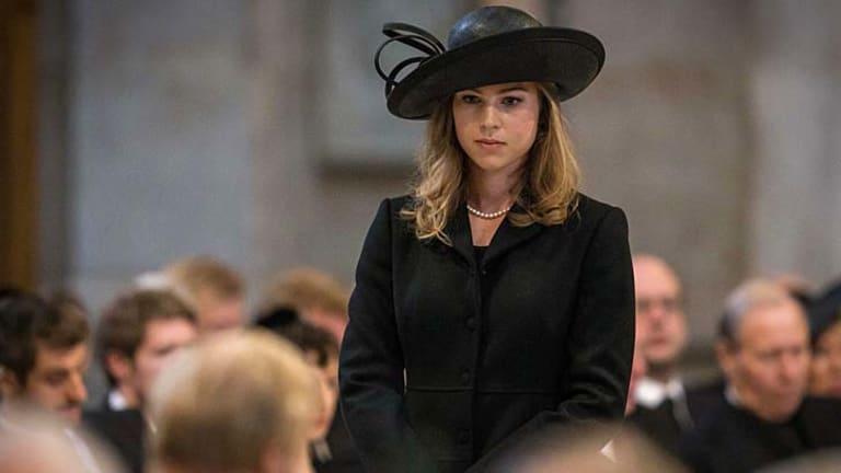 Captivated mourners: Amanda Thatcher.
