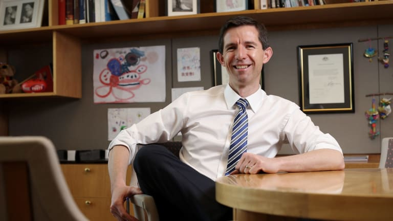Minister for Education and Training Simon Birmingham at Parliament House on Tuesday.