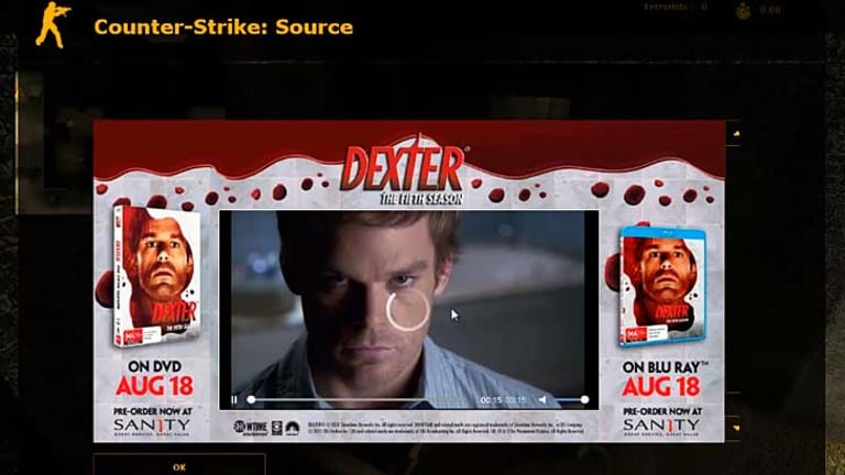 The show Dexter gets a plug via Pinion in Counter-Strike: Source.