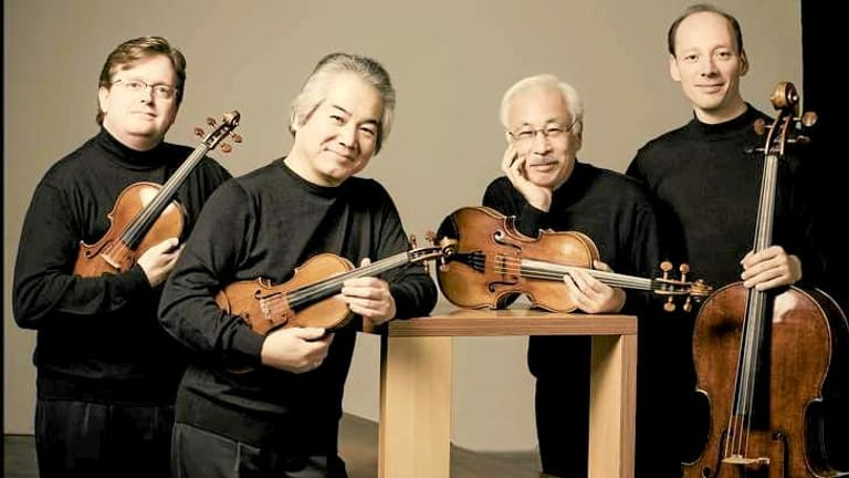 The Tokyo String Quartet's Martin Beaver, Kikuei Ikeda, Kazuhide Isomura and Clive Greensmith.