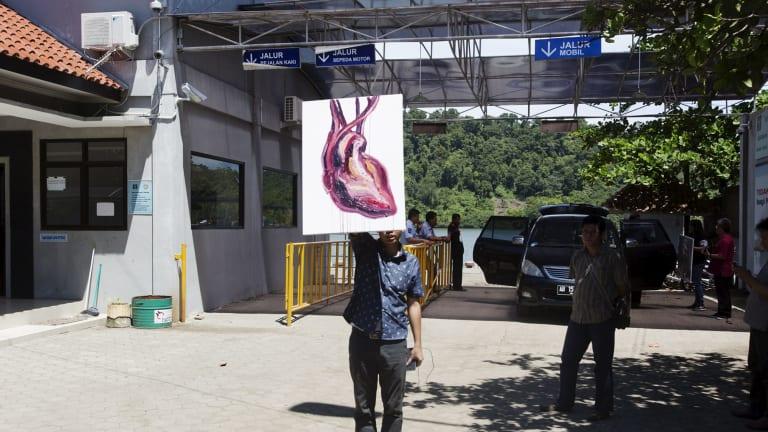 Myuran Sukumaran's painting of a human heart.