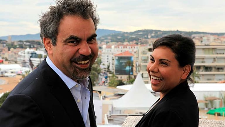 Director Wayne Blair with star Deborah Mailman in Cannes.