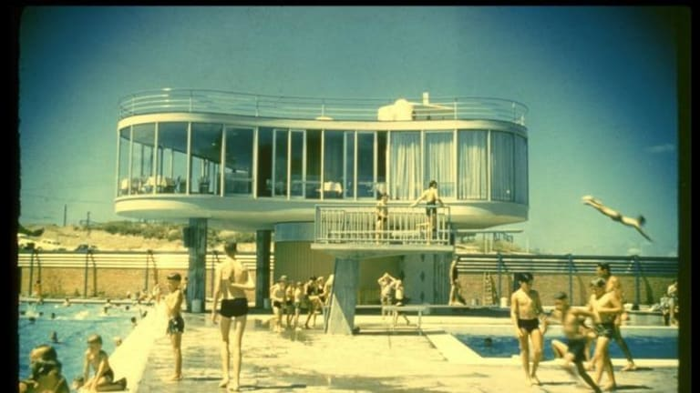 Centenary Pool at Spring Hill, designed by architect James Birrell.