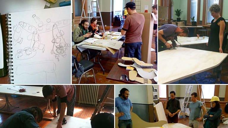 Michelle Emma James's Hub project taking shape.
