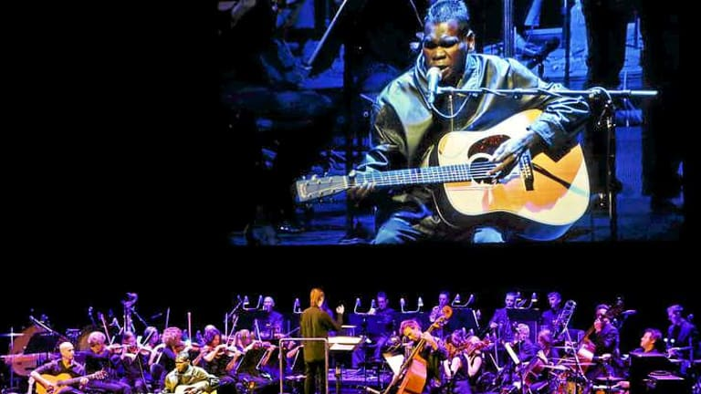 Musical, multimedia magic: Gurrumul with the Sydney Symphony Orchestra.