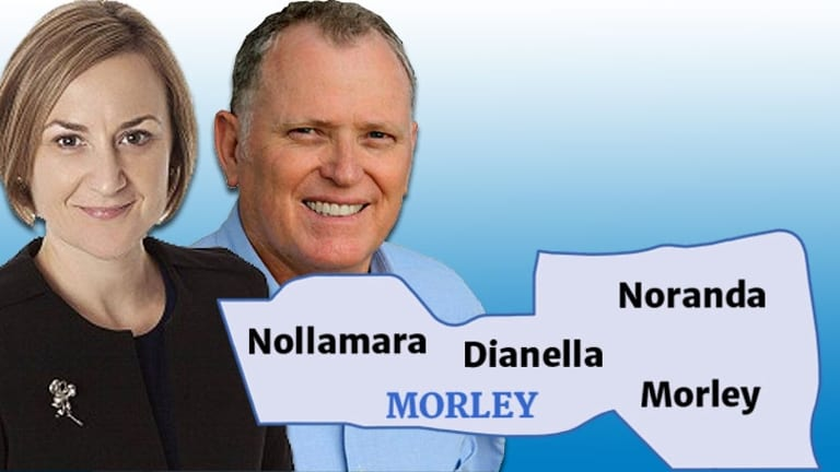 In Morley Amber-Jade Sanderson faces off with Ian Britza from the Liberals.