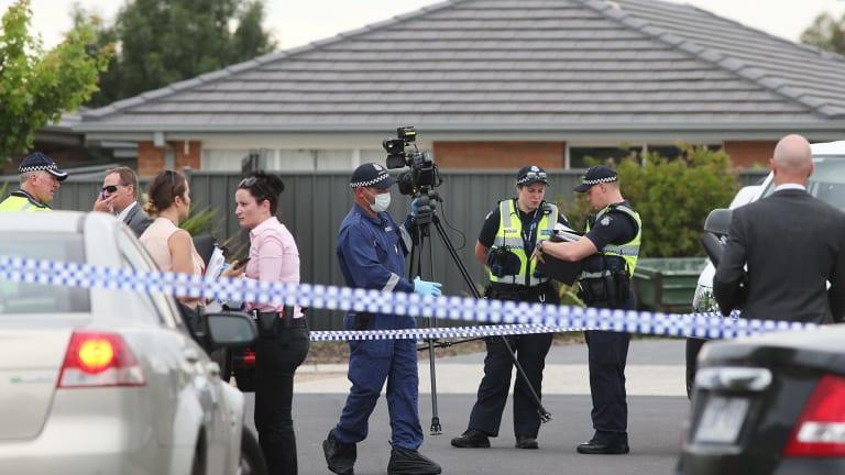 Police at the scene in Deer Park.