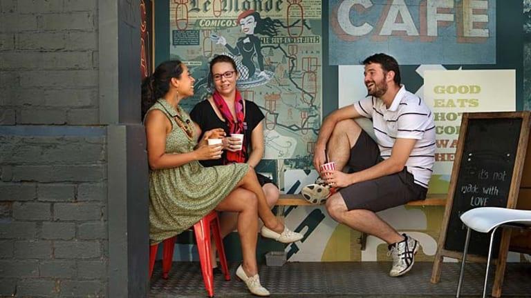 Idealists: The Oaktree crew (from left) Viv Benjamin, Hilary Viney and Lloyd Alderman.