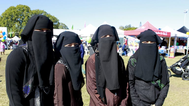 Minara Begum, Parvin Akter, Nahar Noor and Minara Begum from Inala at World Refugee Day.
