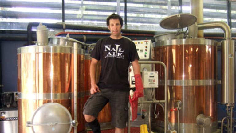 Nailed it ... Nail Brewing owner-brewer John Stallwood claims to have made the world's most expensive beer.