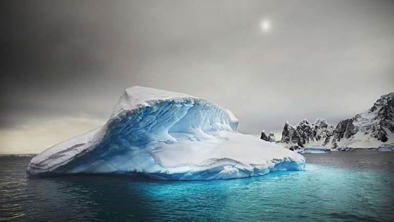 """Port Charcot, Antarctica . . . """"there is so much colour down in that ice""""."""
