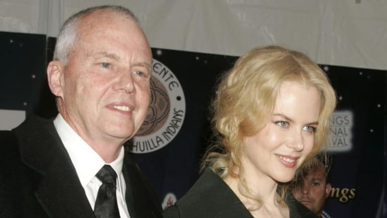 Famous father: Antony Kidman with his daughter Nicole at the 2005 Palm Springs Film Festival.
