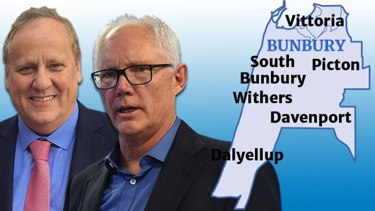 In Bunbury Don Punch from the Labor Party challenges Liberal Tim Morison.