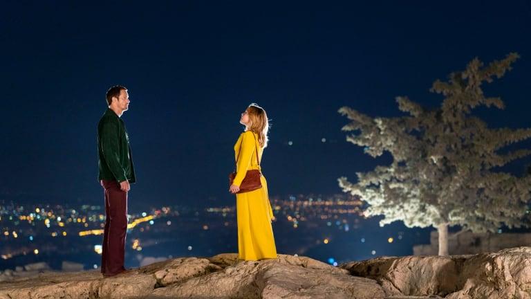 Alexander Skarsgard as Becker and Florence Pugh as Charlie in <i>The Little Drummer Girl</i>.