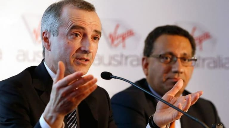"""""""We will benefit from the economies of scale"""": Virgin Australia boss John Borghetti with chief financial officer, Sankar Narayan."""